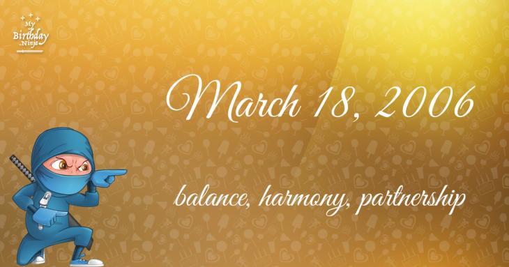 March 18, 2006 Birthday Ninja