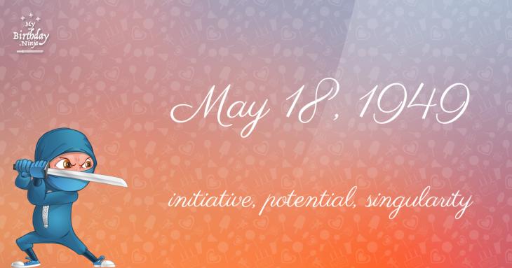 May 18, 1949 Birthday Ninja