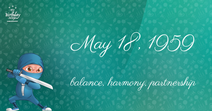 May 18, 1959 Birthday Ninja