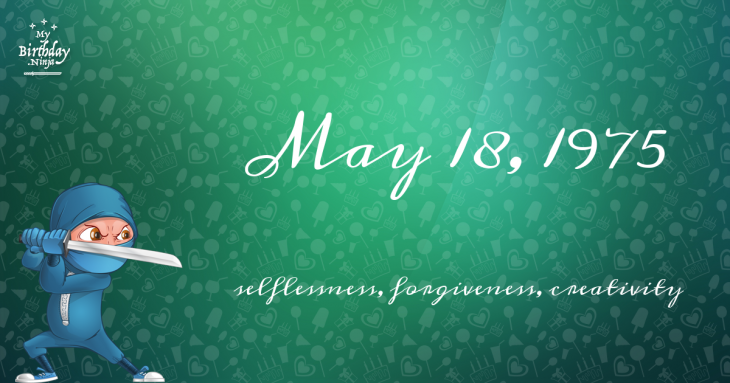 May 18, 1975 Birthday Ninja