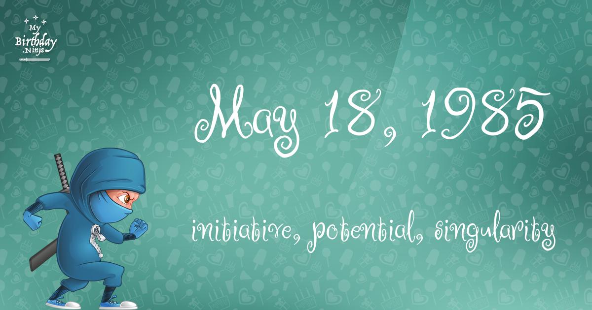 May 18, 1985 Birthday Ninja Poster