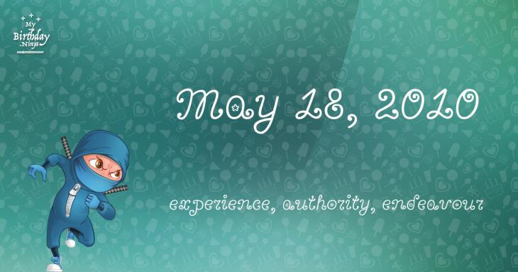 May 18, 2010 Birthday Ninja
