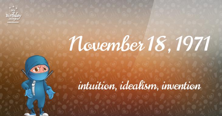November 18, 1971 Birthday Ninja