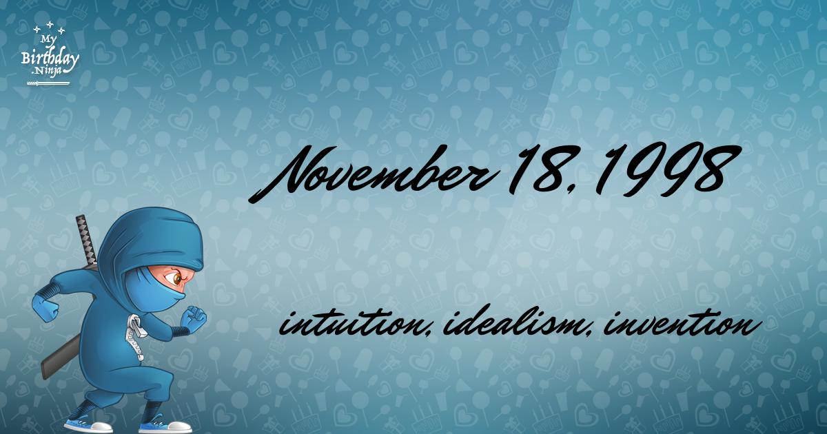 November 18, 1998 Birthday Ninja Poster