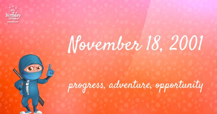 November 18, 2001 Birthday Ninja
