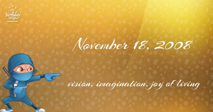 November 18, 2008 Birthday Ninja