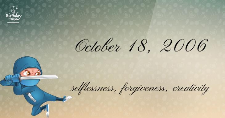 October 18, 2006 Birthday Ninja
