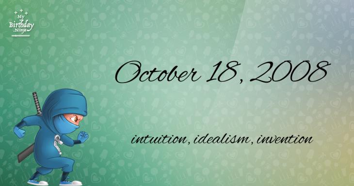 October 18, 2008 Birthday Ninja