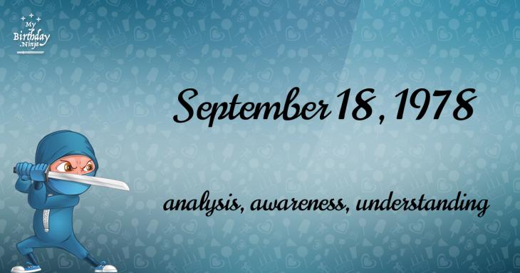 September 18, 1978 Birthday Ninja
