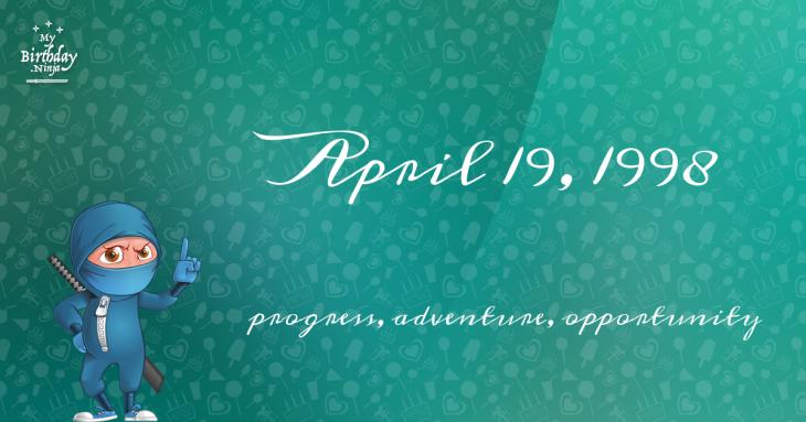 April 19, 1998 Birthday Ninja