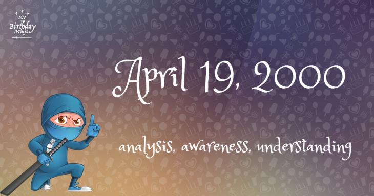 April 19, 2000 Birthday Ninja