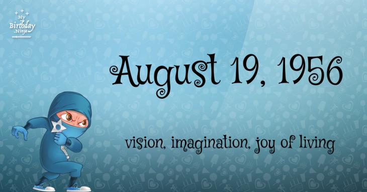 August 19, 1956 Birthday Ninja