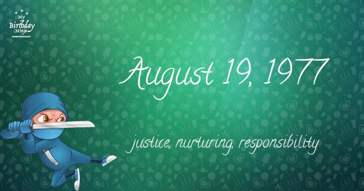 August 19, 1977 Birthday Ninja