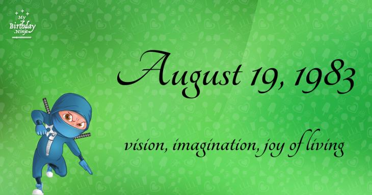 August 19, 1983 Birthday Ninja
