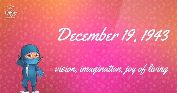 December 19, 1943 Birthday Ninja