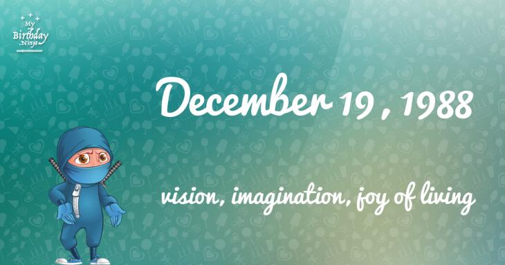 December 19, 1988 Birthday Ninja