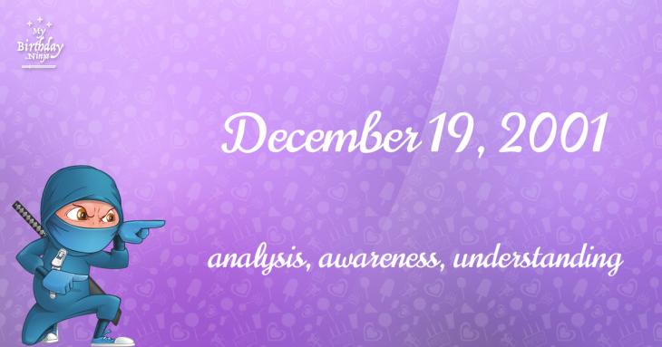 December 19, 2001 Birthday Ninja