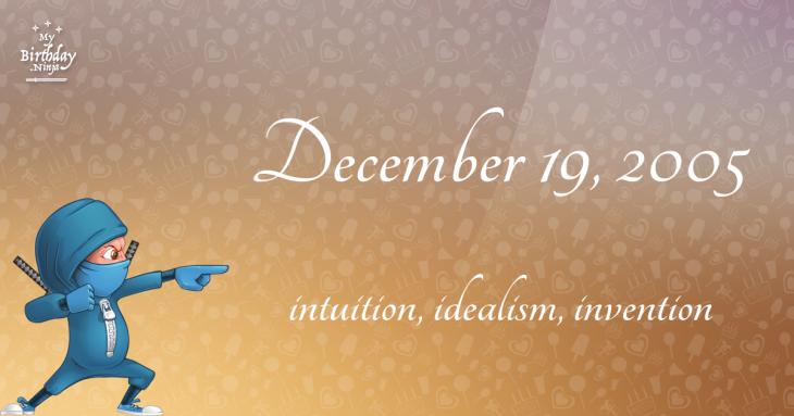 December 19, 2005 Birthday Ninja