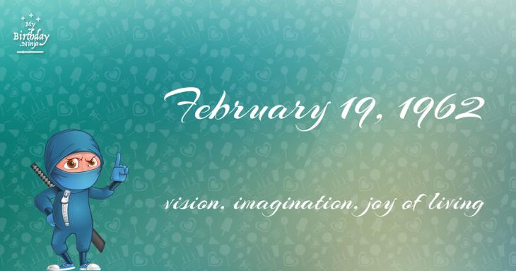 February 19, 1962 Birthday Ninja