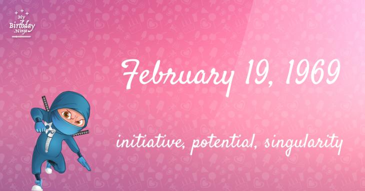 February 19, 1969 Birthday Ninja