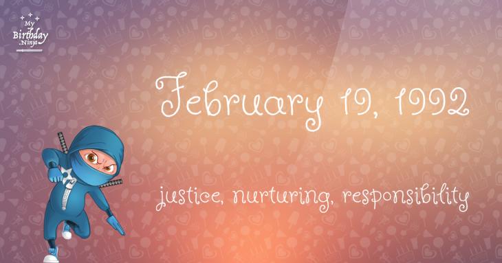 February 19, 1992 Birthday Ninja