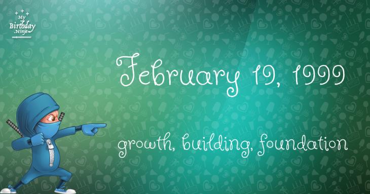 February 19, 1999 Birthday Ninja