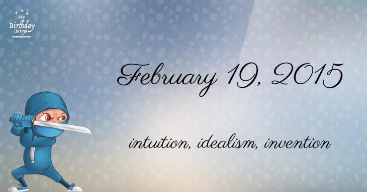 February 19, 2015 Birthday Ninja