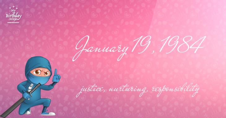 January 19, 1984 Birthday Ninja