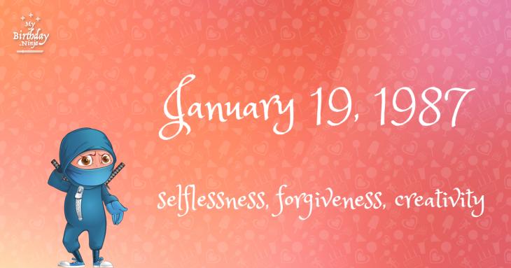 January 19, 1987 Birthday Ninja