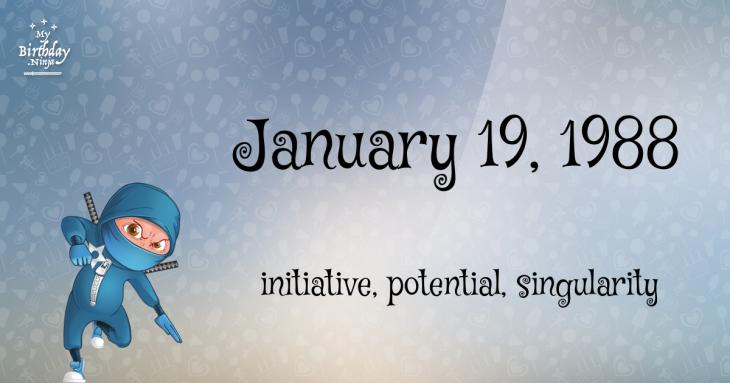 January 19, 1988 Birthday Ninja