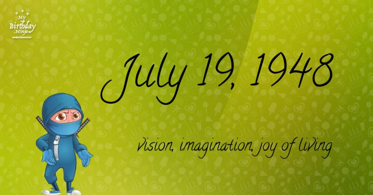 July 19, 1948 Birthday Ninja