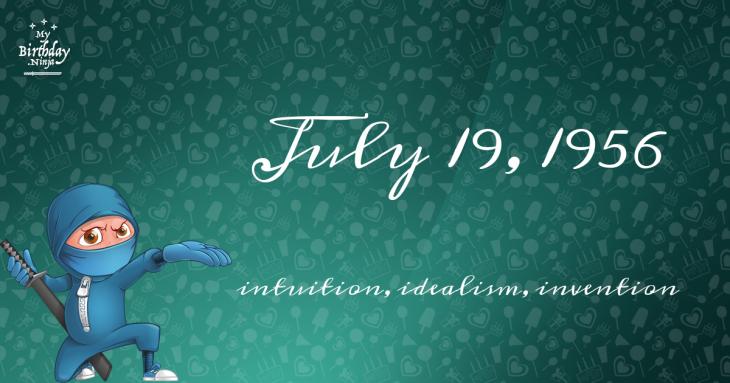 July 19, 1956 Birthday Ninja