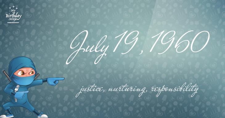 July 19, 1960 Birthday Ninja