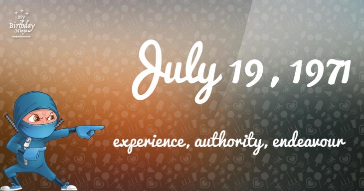 July 19, 1971 Birthday Ninja