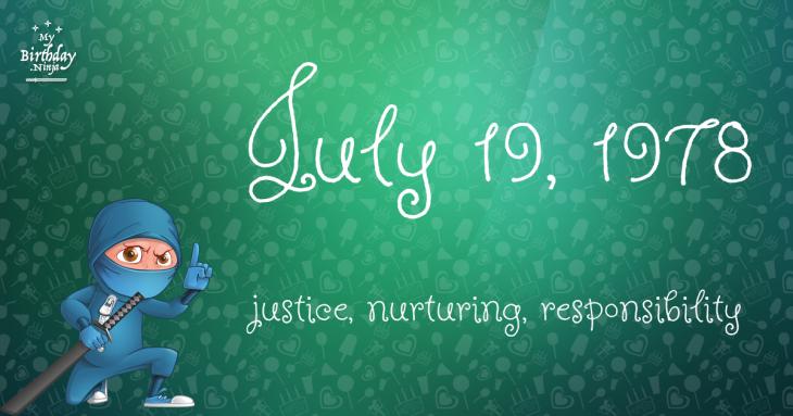 July 19, 1978 Birthday Ninja