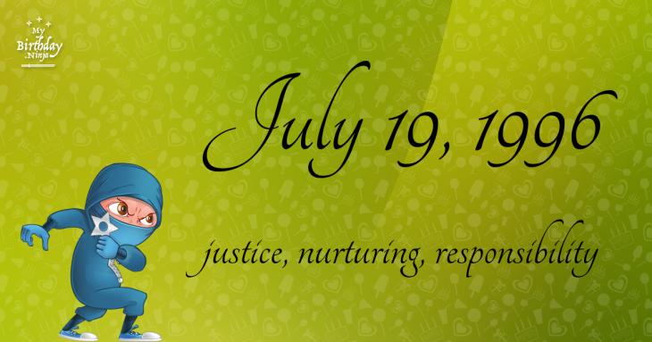 July 19, 1996 Birthday Ninja