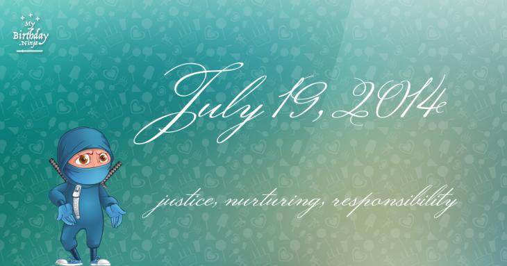 July 19, 2014 Birthday Ninja