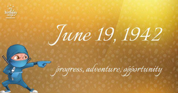 June 19, 1942 Birthday Ninja