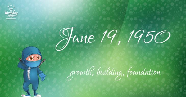 June 19, 1950 Birthday Ninja