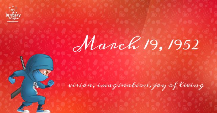 March 19, 1952 Birthday Ninja