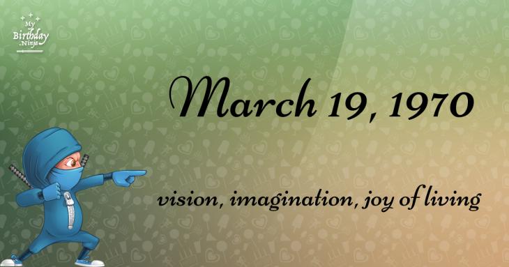 March 19, 1970 Birthday Ninja