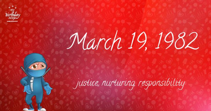 March 19, 1982 Birthday Ninja