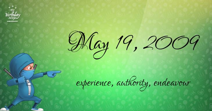 May 19, 2009 Birthday Ninja