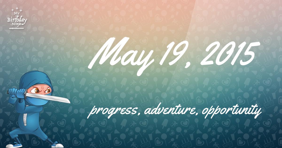 May 19, 2015 Birthday Ninja Poster