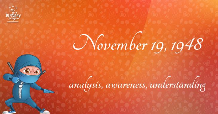 November 19, 1948 Birthday Ninja