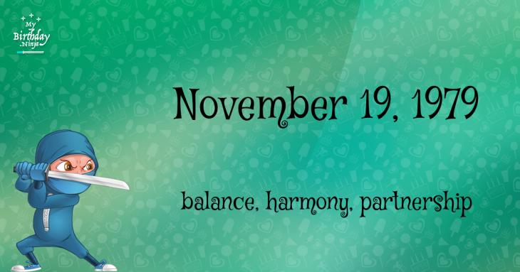 November 19, 1979 Birthday Ninja