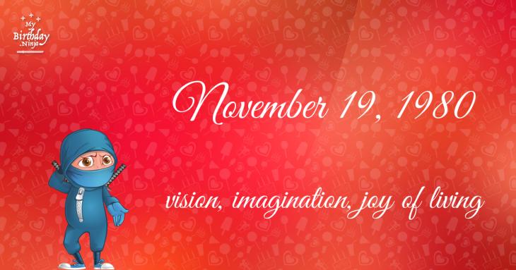 November 19, 1980 Birthday Ninja