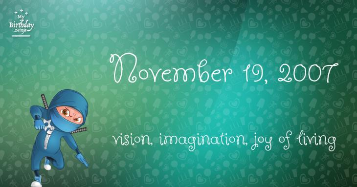 November 19, 2007 Birthday Ninja