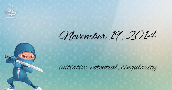 November 19, 2014 Birthday Ninja