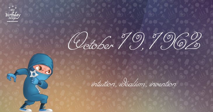 October 19, 1962 Birthday Ninja